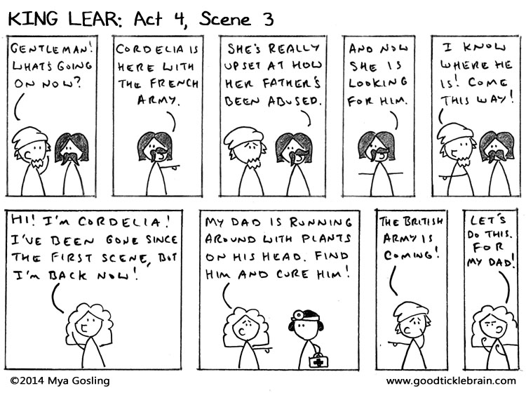 king lear act 5 scene 1 quotes essay An analysis of 'king lear' act 4, scene 6 and 7, looking at the drama that concludes the fourth act of this marvelous play.