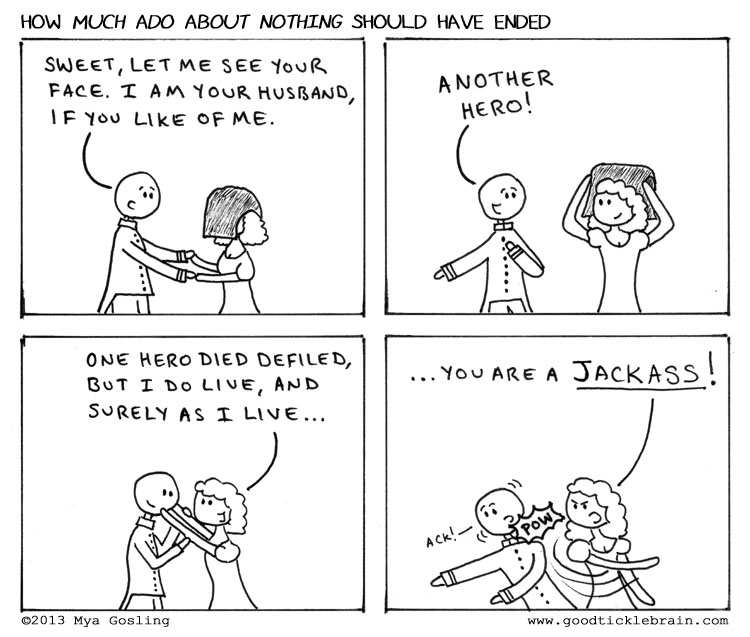 A comparison of shakespeares the merchant of venice and much ado about nothing