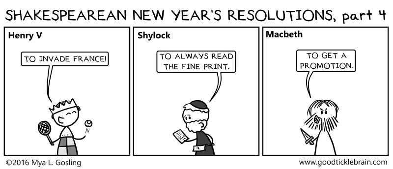 Shakespearean New Year's Resolutions, part 5 shakespeare news The Shakespeare Standard theshakespearestandard.com shakespeare plays list play shakespeare