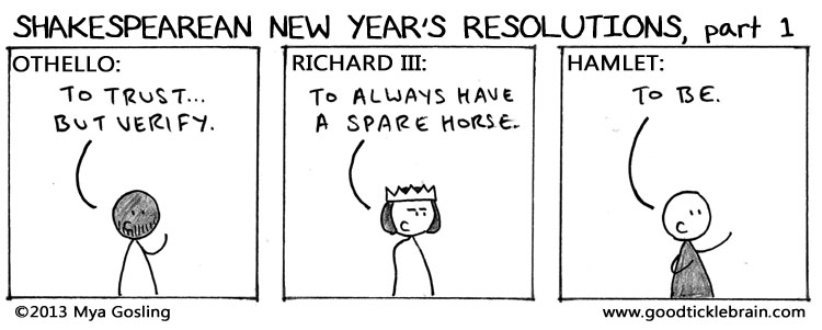Shakespearean New Year's Resolutions, part 6 shakespeare news The Shakespeare Standard theshakespearestandard.com shakespeare plays list play shakespeare
