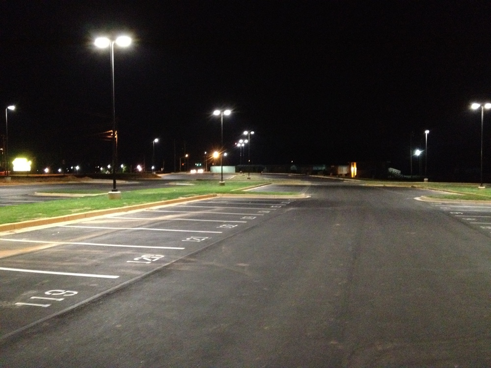 LED Lit Parking Lot