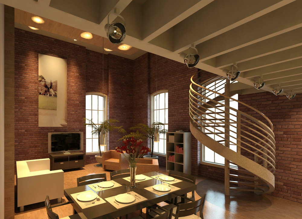 Loft Apartment Rendering