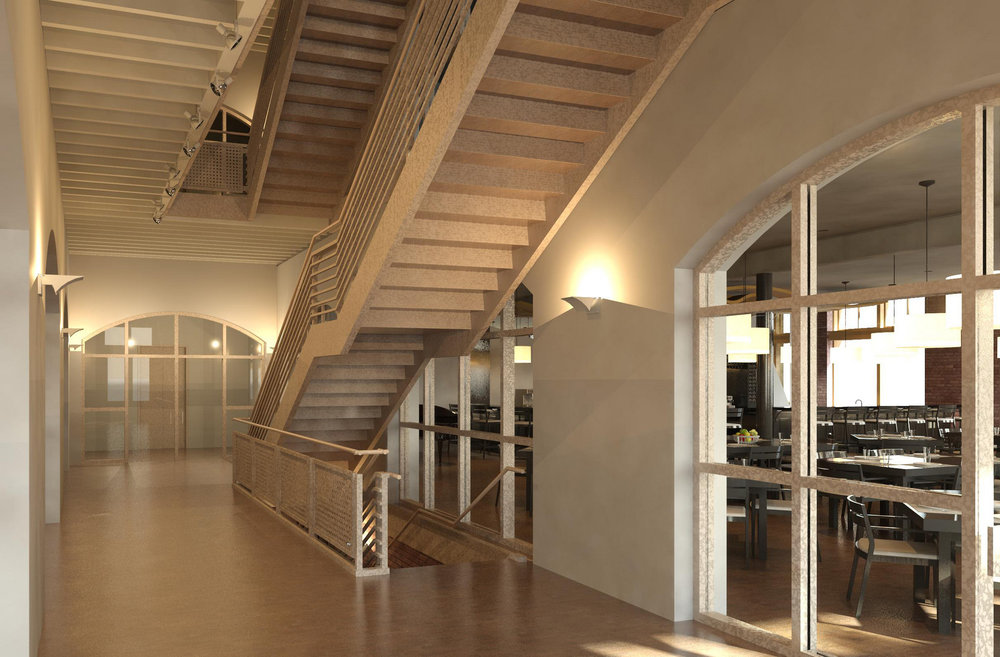 Second Floor Lobby Rendering