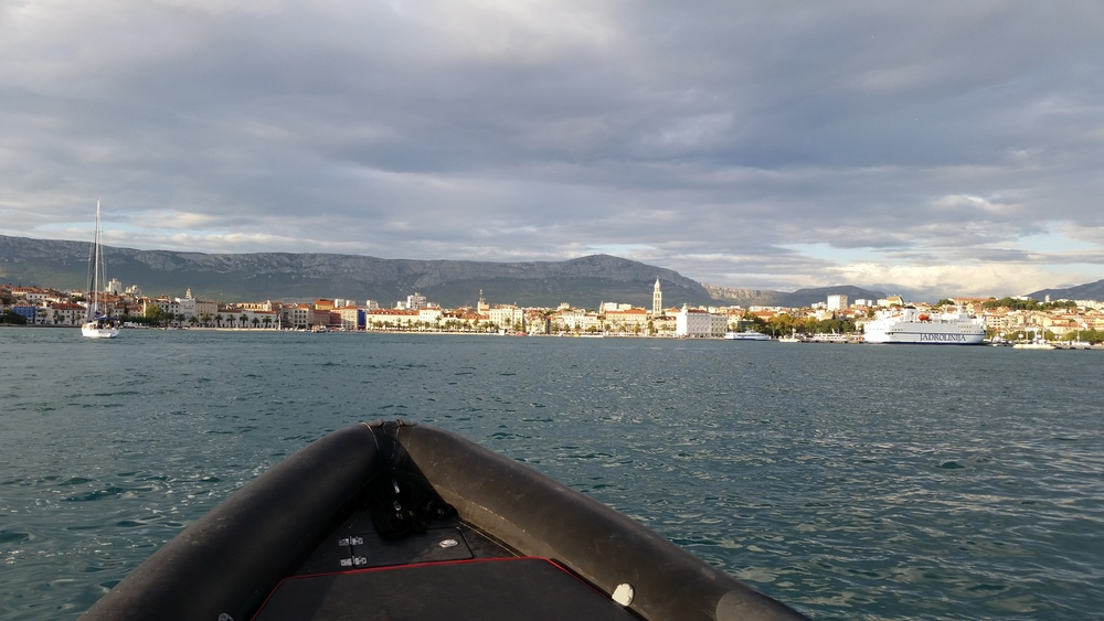 Coming home, Split harbour
