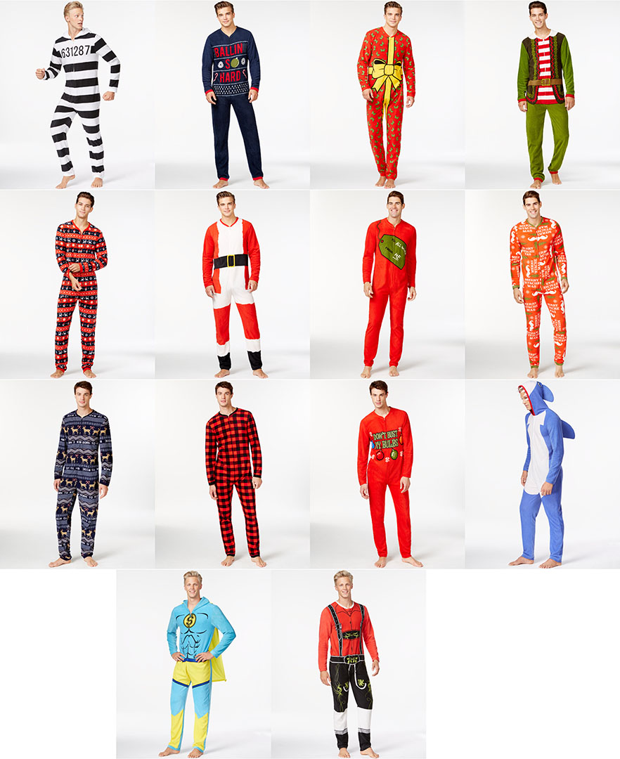 My Adult size Christmas Onesies at Macy\'s — Jeremy Johnson