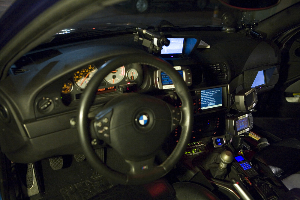 The interior of Alex Roy's M5