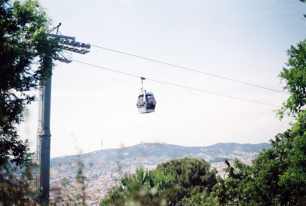 Cable car to Montjuïc