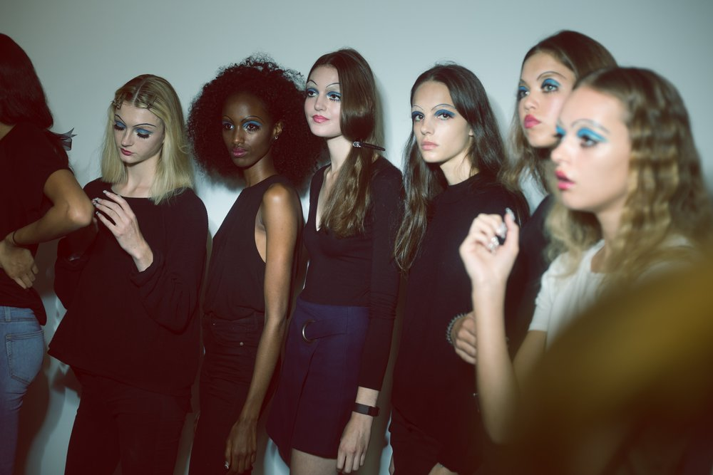 Backstage at Ryan LO; photography by Andrea Galassi