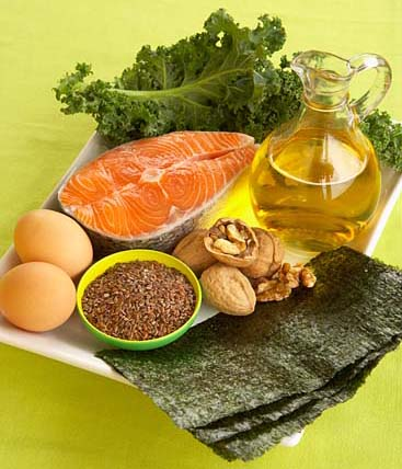 Fish oils, safflower and sunflower oils, walnuts, canola oils: Polyunsaturated Fatty Acids.