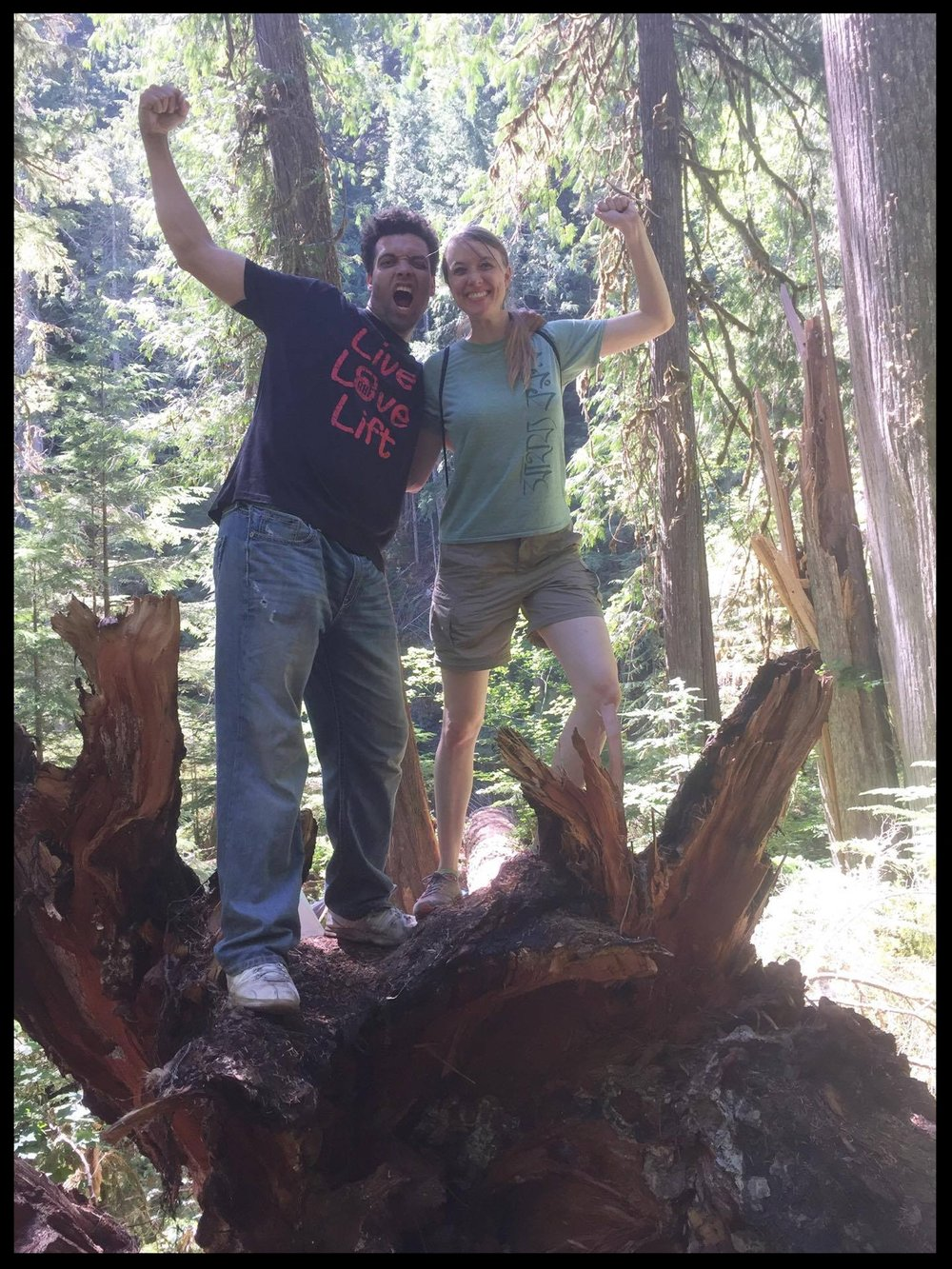 Hiking with my fiancélast weekend