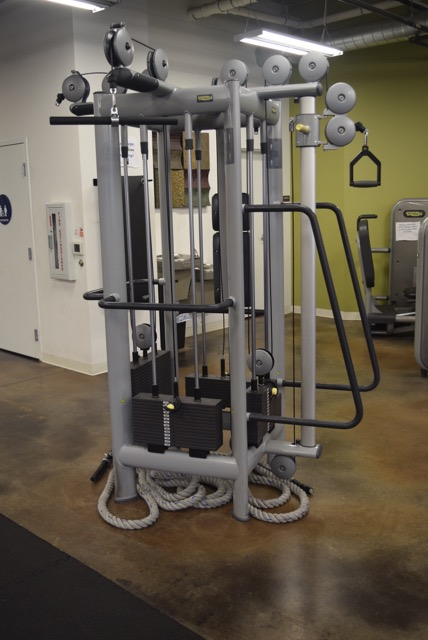 Cable Machines - Work a circuit around our cable machines. When you really want to sweat while building muscle, unwind the rope tucked beneath!