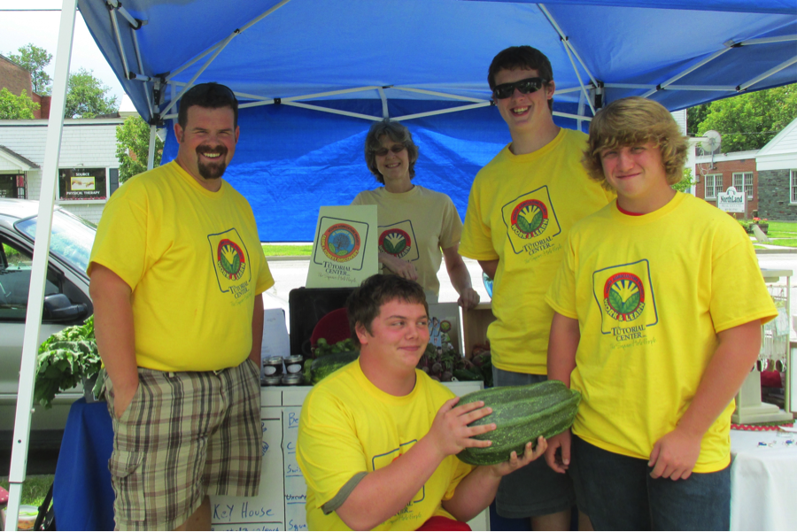 TTC at SHC YAP crew 2014 at the Lakes Region Farmers' Market