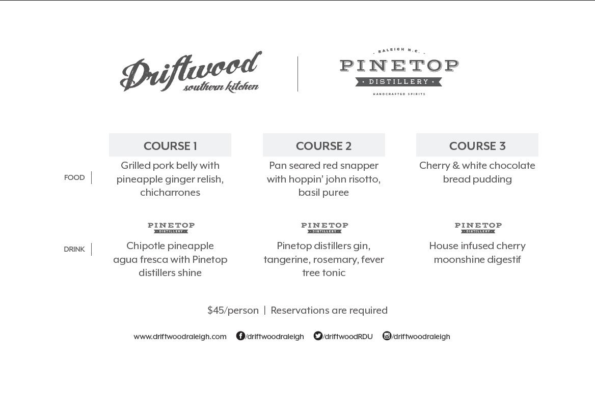 Upcoming — Driftwood Southern Kitchen