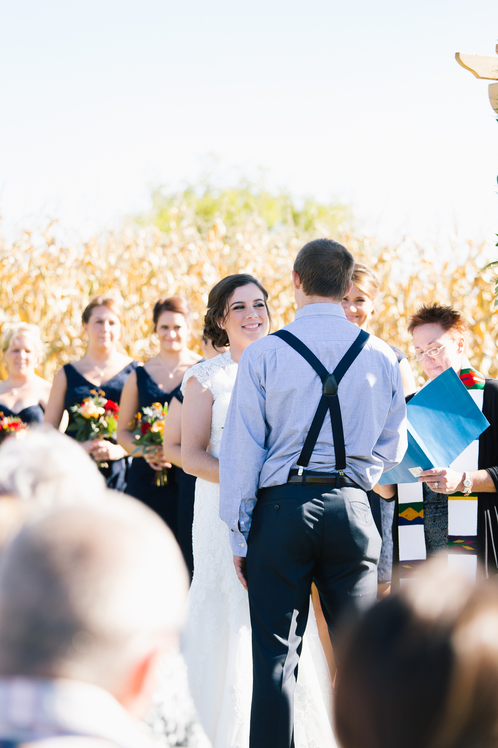 Allison Hopperstad Photography, Minnesota Wedding Photographers, Minnesota Wedding, Outdoor Minnesota Wedding, Outdoor Wedding, Outdoor Fall Wedding, Minnesota Fall Wedding, Barn Wedding, Minnesota Barn Wedding, Dellwood Barn Wedding, Minneapolis Wedding Photographers, Farm Wedding, Lace Wedding Dress, Navy Bridesmaids Dresses, Groom with Bowtie, Groomsmen with Bowties, Lakeside Floral, Be Kind Salon, Twin Cities Pretty, Allure Bridal, Bella Bridal, Kennedy Blue