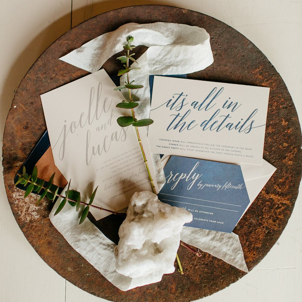 GEOMETRIC STYLED WEDDING STATIONERY