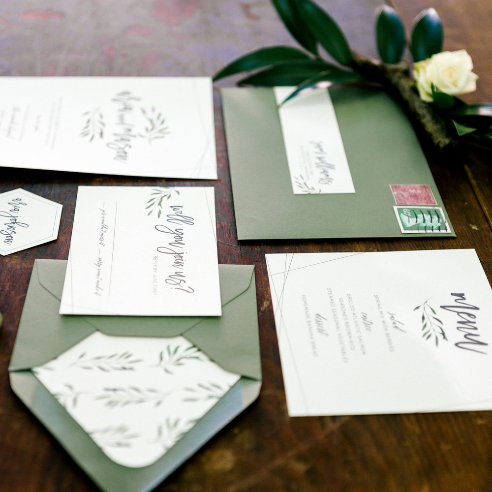 WOODLAND STYLED WEDDING STATIONERY