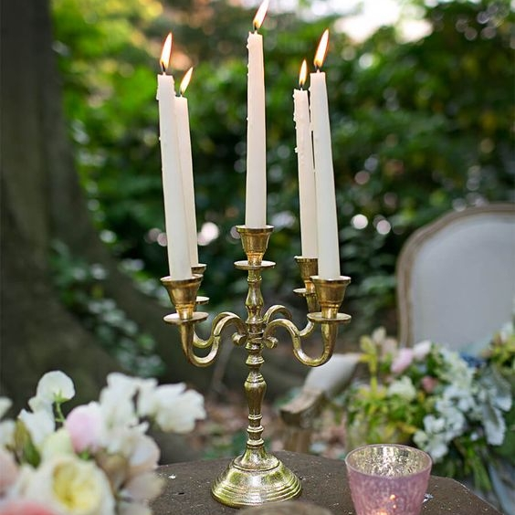 Brass Candelabra - Small  Size:  Quantity: 5 Rental: $5 each