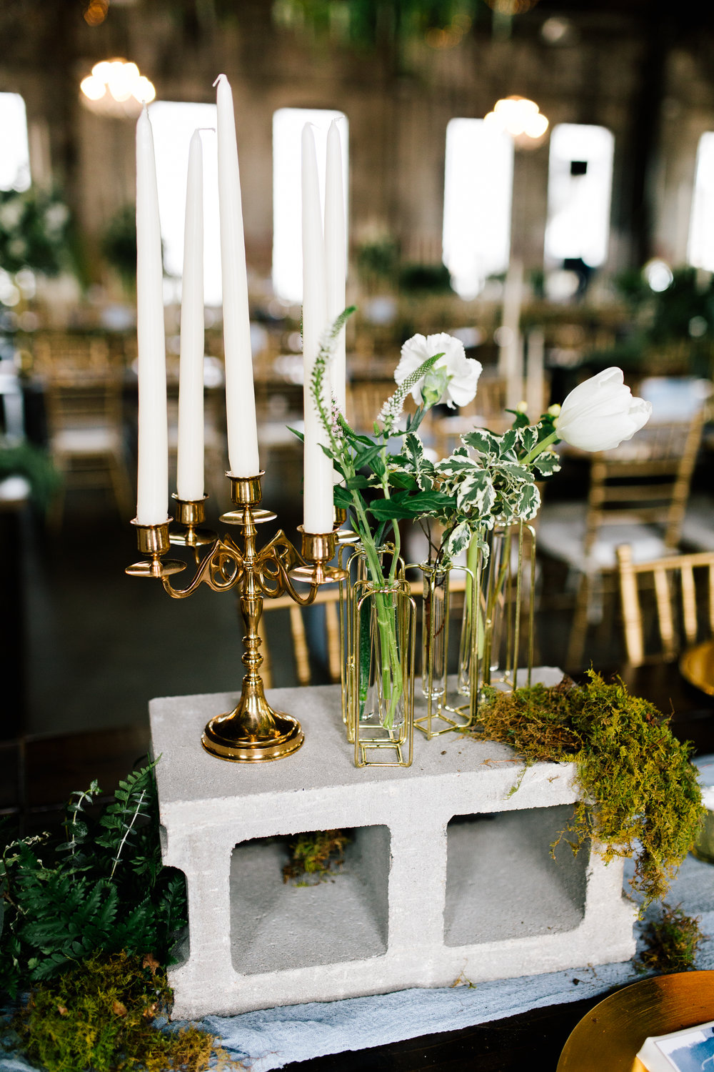 Brass Candelabra - Small  Size: Varies Quantity: 2 Rental: $5 each
