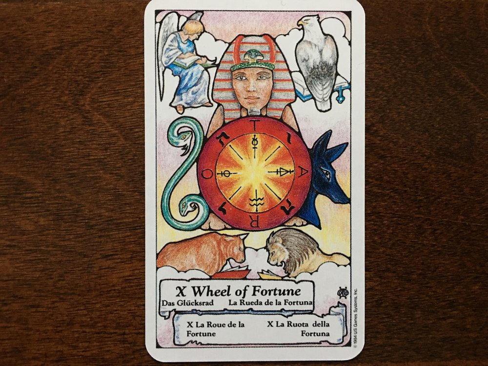 The Wheel of Fortune, Hanson-Roberts Tarot Deck, U.S. Games Systems, Inc.