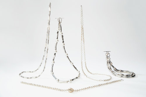 chunky pearl jewelry collection