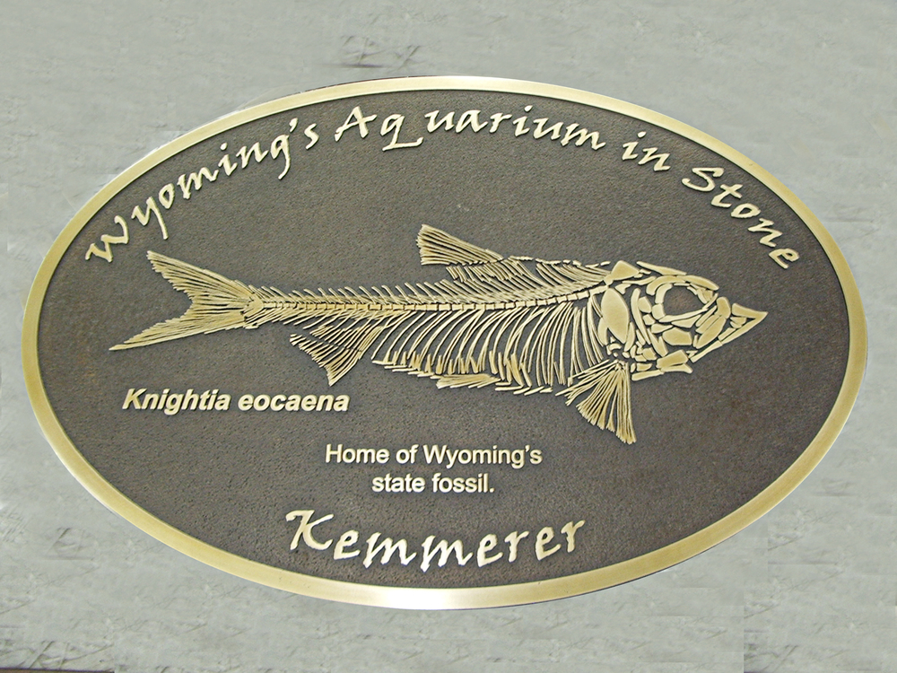 Cast bronze plaque, custom patina