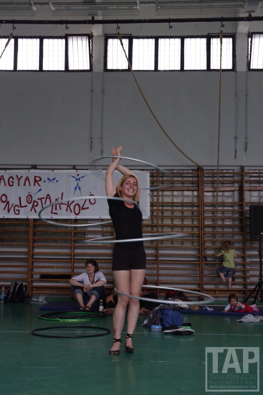 Nana was teaching the hoop workshops through the day this chick can do some wild things with the hoops