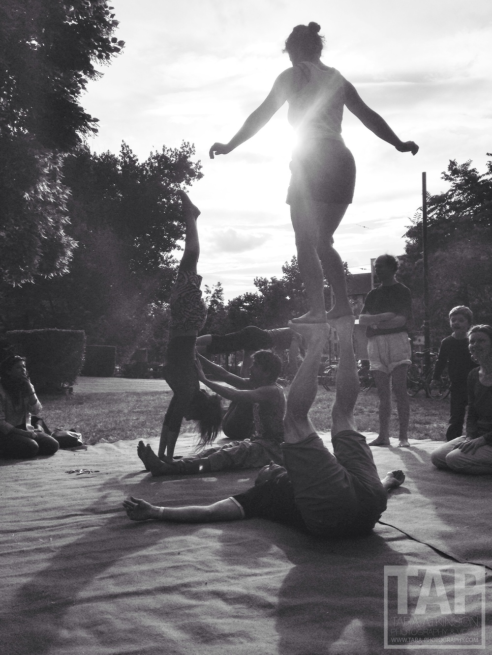 Jamming with the Inspiral Acro guys outside