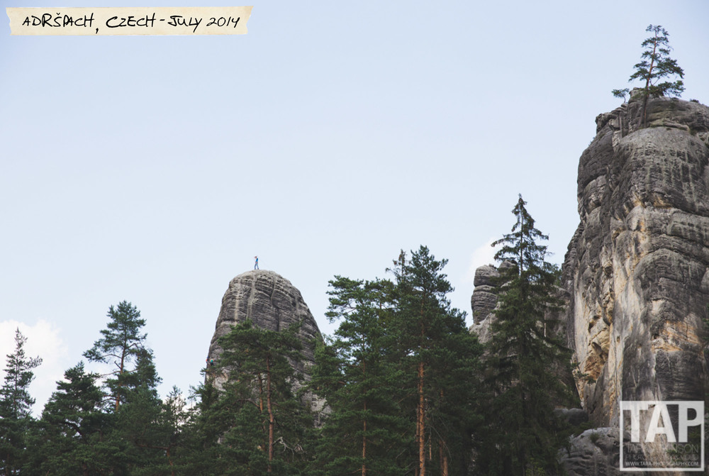 The Adršpach-Teplice Rocks are an unusual set of sandstone formations covering 17 km² in northeastern Bohemia, Czech Republic. The area is known for climbing, hiking and mountain biking, but more recently highlining .