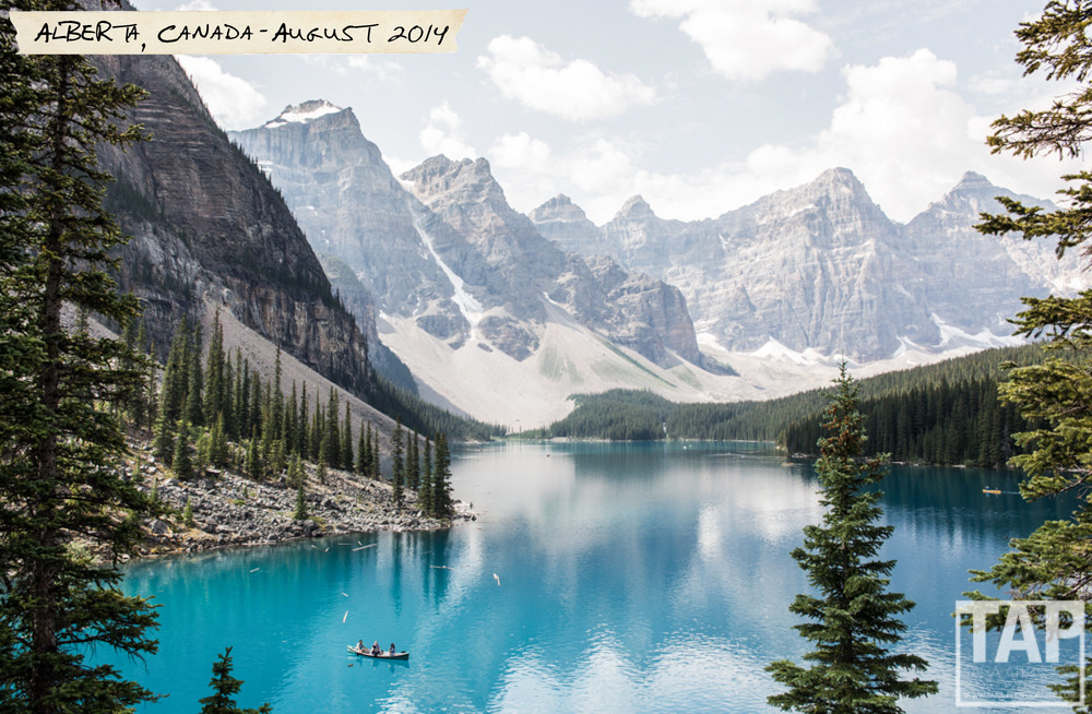 Moraine Lake is a glacially-fed lake in Banff National Park, situated in the Valley of the Ten Peaks, at an elevation of approximately 6,183 feet is an incredible sight.
