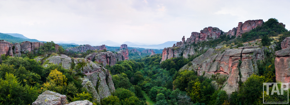 Pictured; In northwest Bulgaria we stumbled upon Belogradchik rocks. Forming a 3 km wide and 30 kilometer long strip the sandstone and conglomerate rock formations reach some 200 meters in height. Each formation bears a name and story.