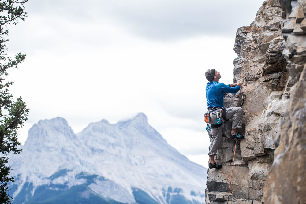 "One of the many crags we visited in the bow valley; the memorable ""look out"". An epic approach followed by some great climbing."
