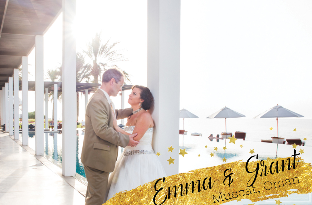 Emma and Grant's Wedding at the Chedi in Muscat