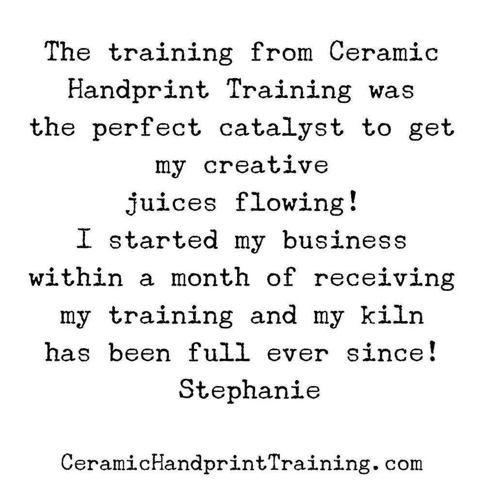 Ceramic Handprint Business Training