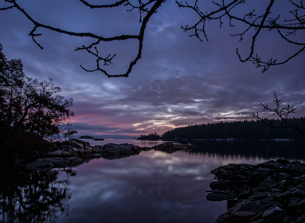 Pre Dawn Colors At Brickyard Community Park In Nanoose Bay