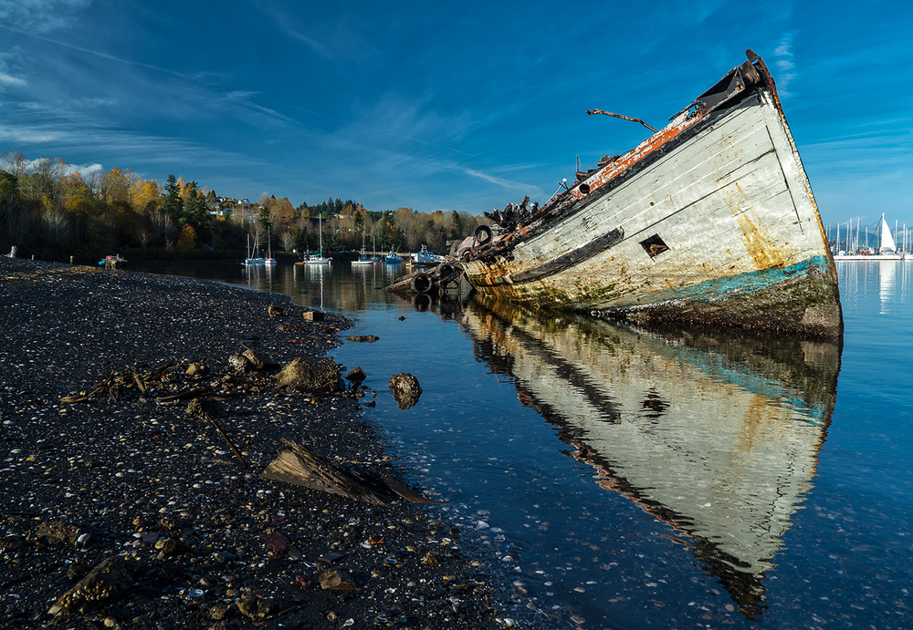 The Latest Beached Ship At Dogpatch In Ladysmith Harbor