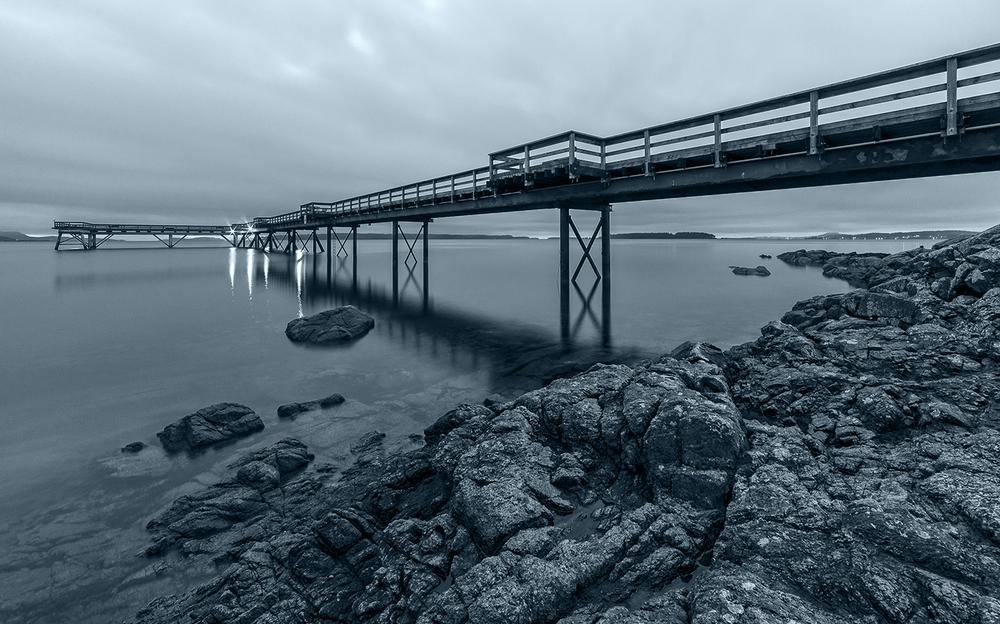 Sidney Pier In Monochrome