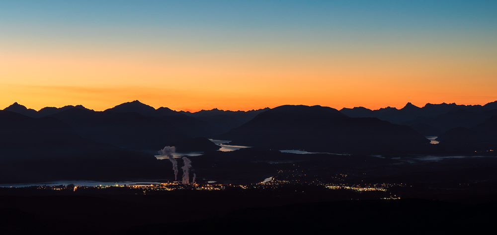 Alberni Valley at Dusk
