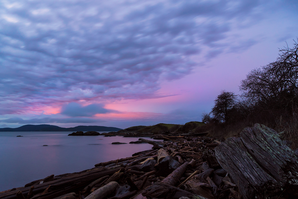 Winter Sunrise On Pender Island