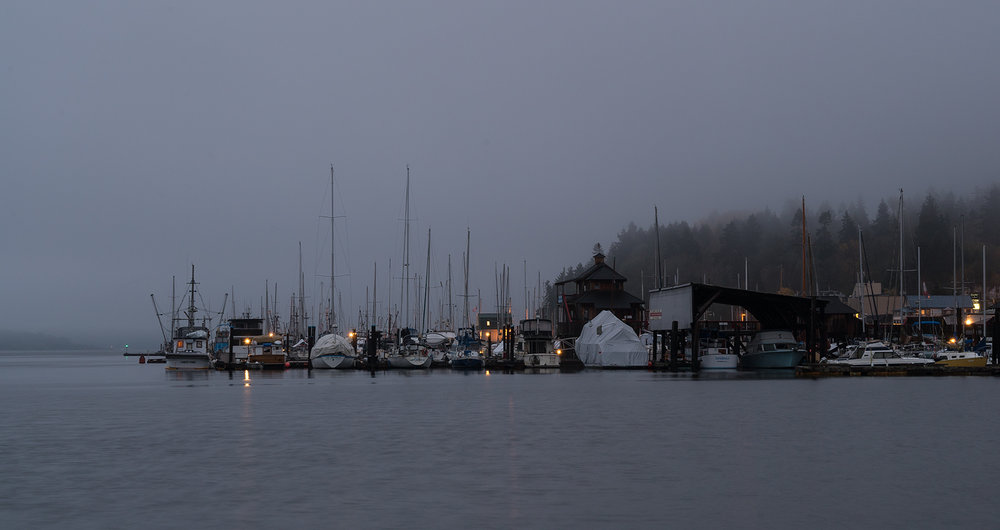 Gloomy Sunday Morning In Cowichan Bay