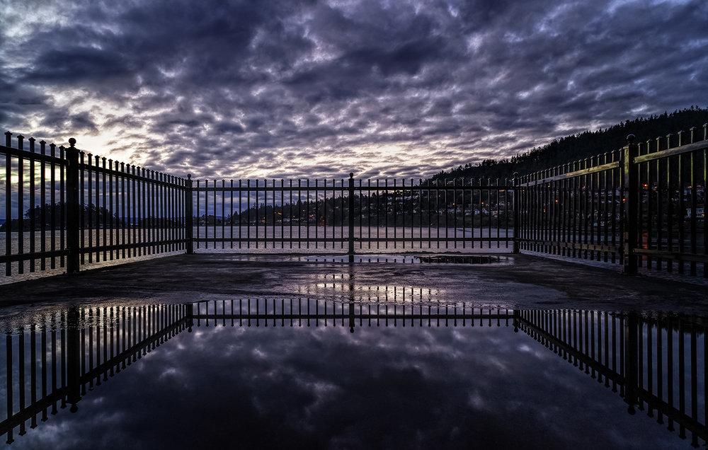 Parapet Reflections At Neck Point Park
