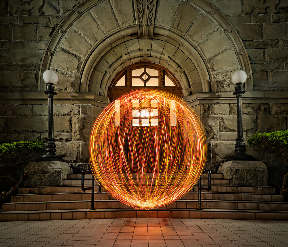 "Spinning An Orb With the ""Ball Of Light"" At The Nanaimo Courthouse"