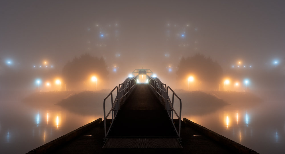 Swyalana Lagoon Fog Mirrored Image