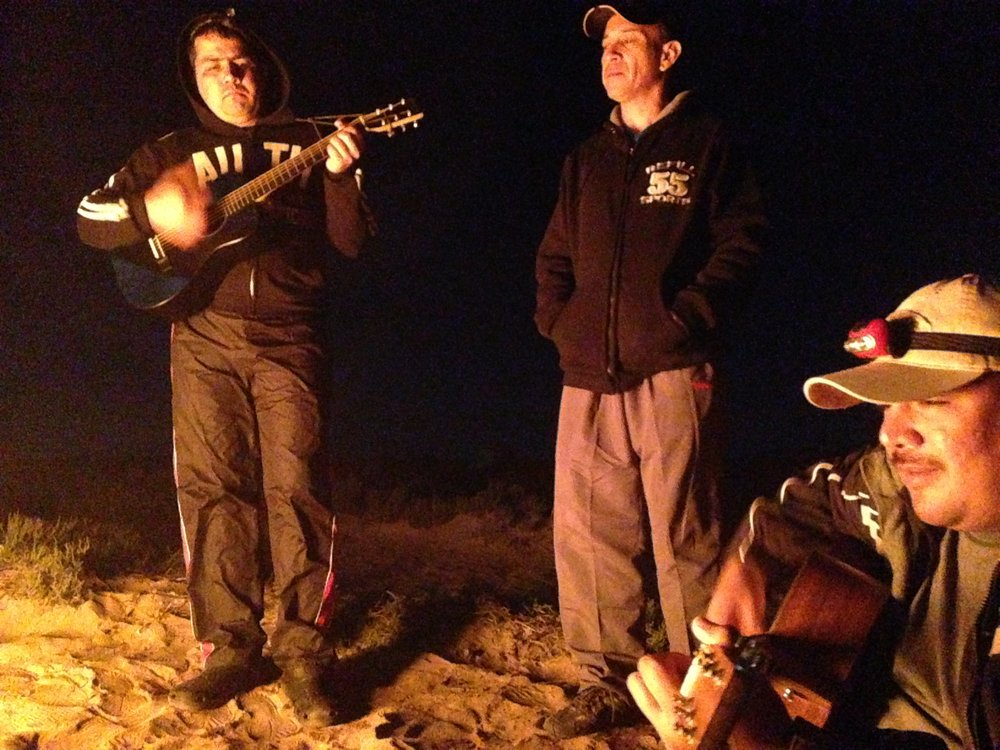 Guitars and campfire.JPG