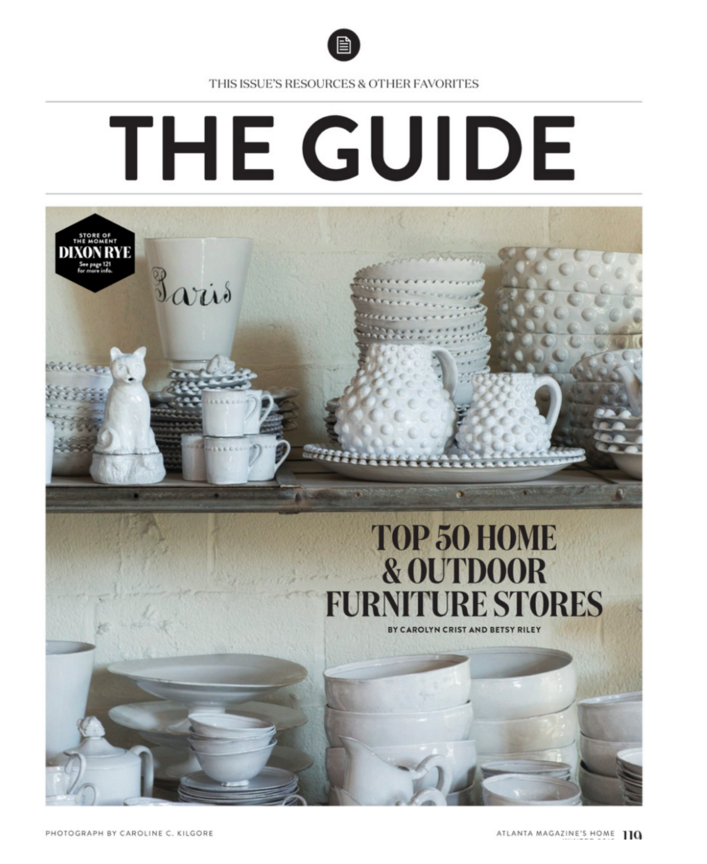 Atlanta Magazine Home | Winter 2015 Issue | 50 Best Home and Outdoor Furniture Stores in Atlanta