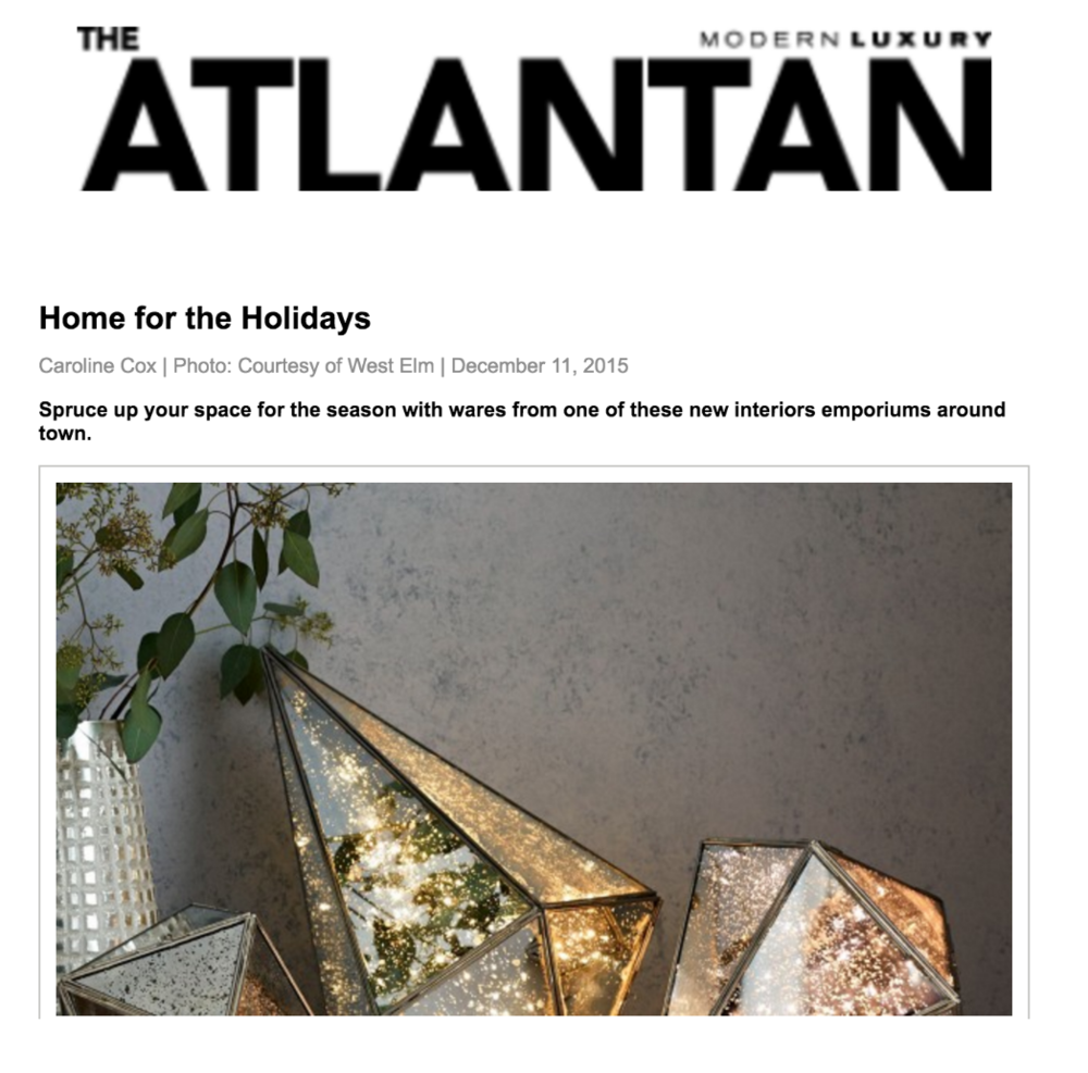The Atlantan Magazine | December 11, 2015 | Editor: Caroline Cox