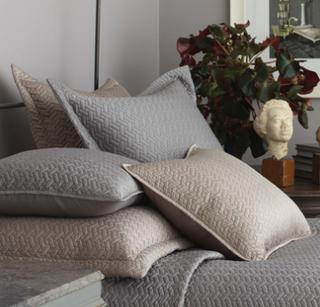 standard pillow shams. Satin Standard Pillow Shams | Ivory A