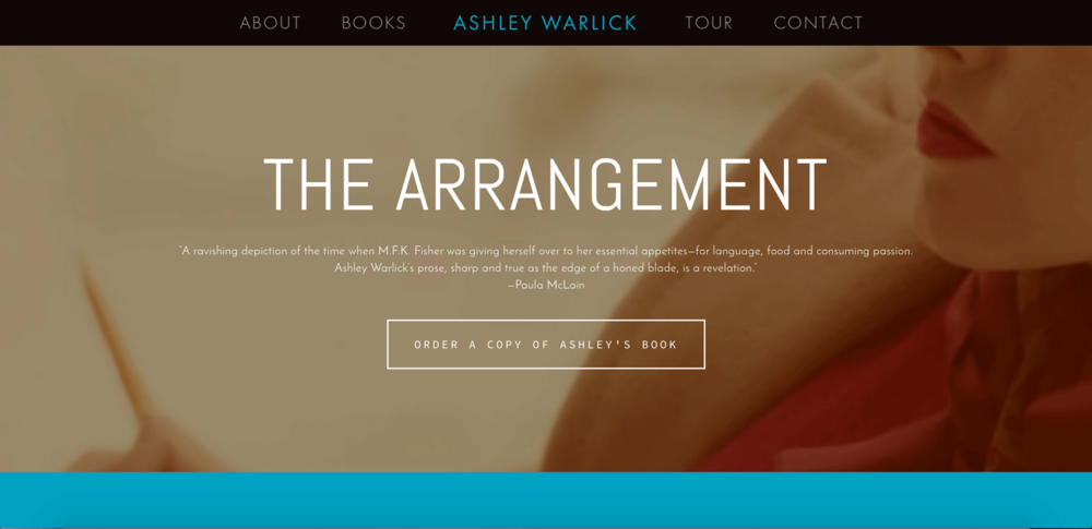 Check out this example of a great author website!