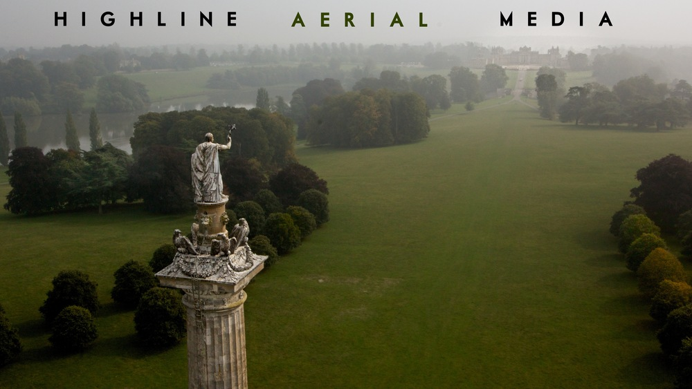 Blenheim Palace: Column of Victory Aerial