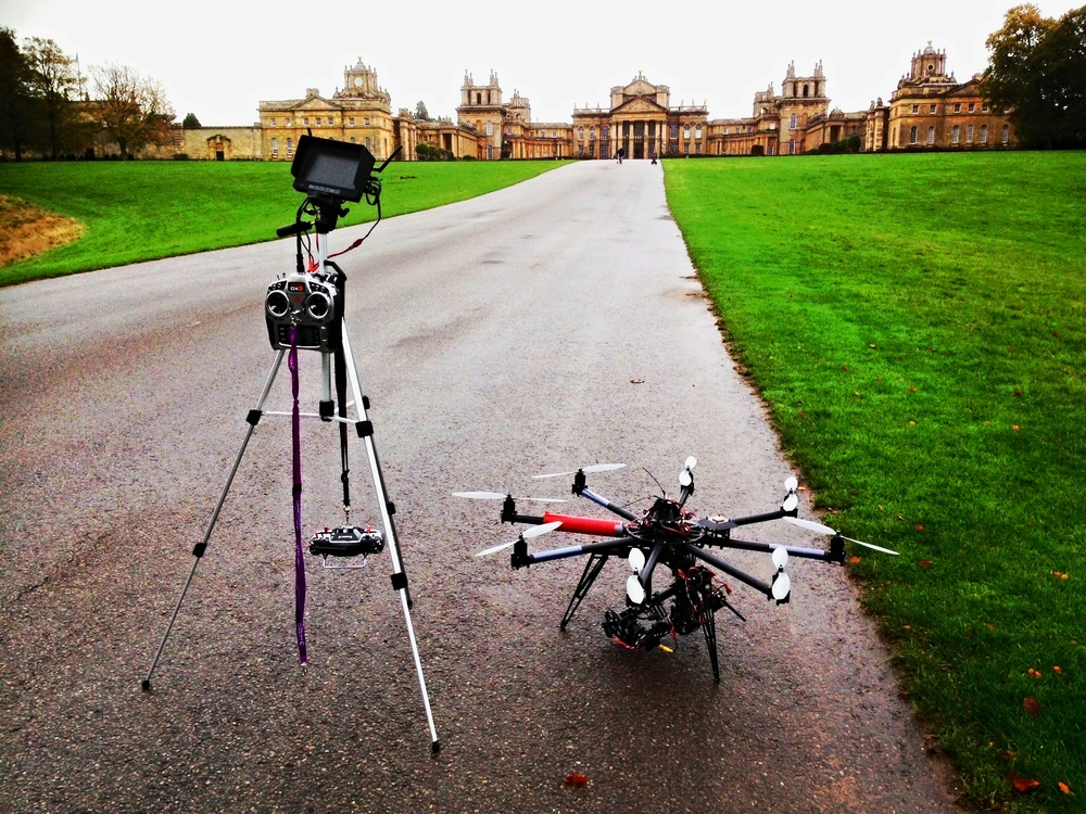 Highline Octocopter at Blenheim Palace, Oxfordshire, UK