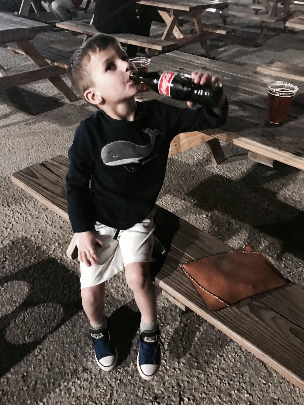 John Carter Enjoying a Coca Cola :)